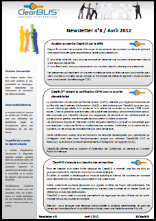 Newsletter ClearBUS - Avril 2012